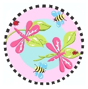 Jade Reynolds Pink Dragonfly Kids Fun Rugs