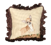 Chihuahua 12'' x 12'' Mixed-Stitch Pillow