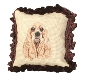 Cocker Spaniel 12'' x 12'' Mixed-Stitch Pillow