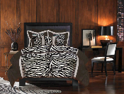 Zebra Black and White Comforter Set