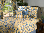 Blues/Yellow Cherborg Comforter Collection