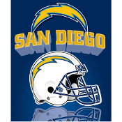 San Diego Chargers Light Weight Fleece NFL Blanket