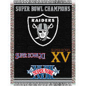 Oakland Raiders NFL Super Bowl Commemorative Woven Tapestry