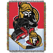 Ottawa Senators NHL Woven Tapestry Throw Blanket