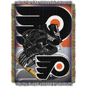 Philadelphia Flyers NHL Woven Tapestry Throw Blanket