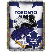 Toronto Maple Leafs NHL Woven Tapestry Throw Blanket
