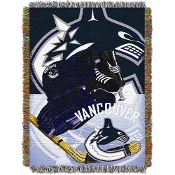 Vancouver Canucks NHL Woven Tapestry Throw Blanket