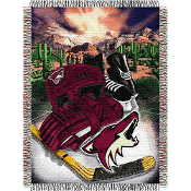 Phoenix Coyotes NHL Woven Tapestry Throw