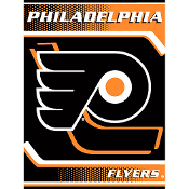 Philadelphia Flyers NHL Royal Plush Raschel Blanket