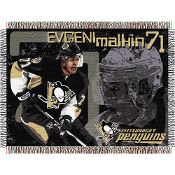 Pittsburgh Penguins Evgeni Malkin #7 NHL Woven Tapestry Throw