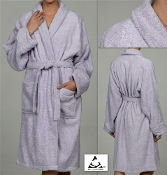 Lilac Unisex Terry Bath Robe