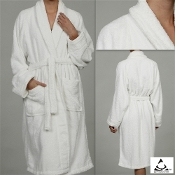 Unisex Terry Bath Robe White
