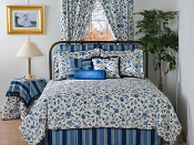 Porecelain Blue Comforter/Duvet Cover by Victor Mill