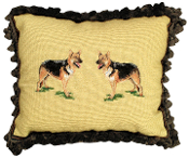 "Shepherd 16"" x 20"" Mixed-Stitch Pillow"