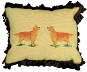 "Golden Retriever 16"" x 20"" Mixed-Stitch Pillow"