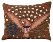 Eagle and Shield  Needlepoint Pillow