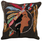 Indian Pillow Hooked Pillow
