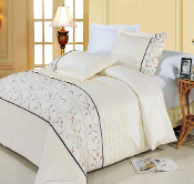 Gray,Champagne Anna Duvet Cover Set