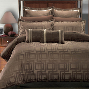 Janet Charcoal Brown 7PC Duvet Covers Set