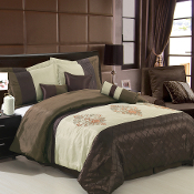 Brown Coffee Beige Pacifica Comforter Set