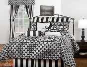 Troy Black/White Comforter/Duvet Cover