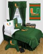 Miami Hurricanes Locker Room Sports Bedding Collection
