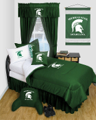 Michigan State Spartans Locker Room Sports Bedding Collection