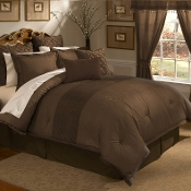 Chocolate Lantana Comforter Set