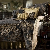 Black/Gold Glenwood Comforter Set