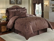 Chocolate Nouvelle Comforter Set