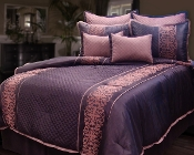Dark Purple Tarah 8 Piece Comforter Set