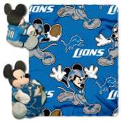 Disney/NFL Mickey Character Shaped Pillow with removable fleece throw. Mickey Includes a full team uniform and is 14 inches tall