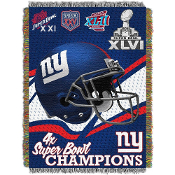 New York Giants NFL Super Bowl Commemorative Woven Tapestry
