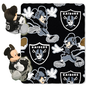 Disney/NFL Mickey Character Shaped Pillow with removable fleece throw. Mickey Includes a full team uniform and is 14 inches tall.