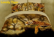 Lonely Tiger Size 6 Piece Duvet Cover Set