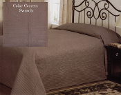 Mocha French Tile Bedspread