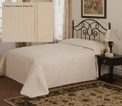 Ivory French Tile Bedspread