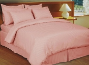 Pink Blush  Stripe Sateen Stripe Duvet Cover 8 PC Set