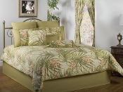 Sea Island Floral Red/White/Green Comforter/Duvet Cover Sets