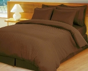 Stripe Chocolate Brown Down Alternative Bed in A Bag