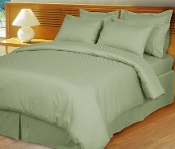 Sage/Green Damask Stripe Down Alternative 4-PC Comforter Set,
