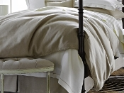 Peacock Alley Rio Linen Corded Duvet Cover Collection