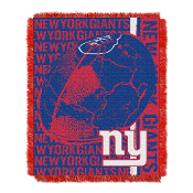 "New York Giants NFL Triple Woven Jacquard Throw (Double Play) (48""x60"")"