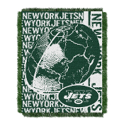 "New York Jets NFL Triple Woven Jacquard Throw (Double Play) (48""x60"")"