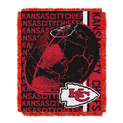 "Kansas City Chiefs NFL Triple Woven Jacquard Throw (Double Play) (48""x60"")"