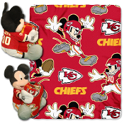 Kansas City Chiefs NFL Mickey Mouse with Throw Combo