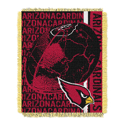 "Arizona Cardinals NFL Triple Woven Jacquard Throw (Double Play) (48""x60"")"
