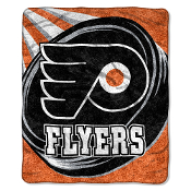 "Philadelphia Flyers NHL Sherpa Throw (Puck Series) (50""x60"")"