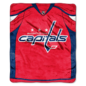 Washington Capitals NHL Royal Plush Raschel Blanket