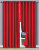 Red Heavy Cotton Drapes